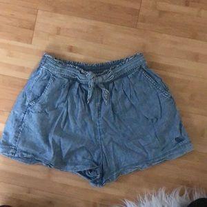 Abercrombie kids soft cloth jean shorts